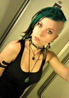Girls Are Pretty / Pretty girl dark green dreaded mohawk