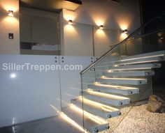 like the light feature here for stairs - Siller stairs
