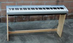 Materials: 2 Fabian wall shelves; 1″x4″x6′ and 1″x3″x6′ pine strips; woodscrews Description: I wanted a nice stand for my Yamaha 88-key electronic piano. Commercial ones are expensive at around $150. So I built one for about $26, using two inexpensive $6.99 Fabian wall shelves from IKEA as the basis for the design. The pictures show [&hellip