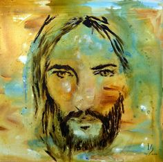 The face of Jesus is prolifically portrayed in this painting done in acrylics and inks, the face done in Ivan Guaderramas detailed technique while surrounded by artistic writing. We invite you to visit the Ivan Guaderrama Art Gallery at the San Jose del Cabo Art District, Mexico.