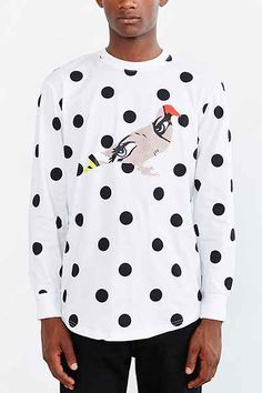 official photos 06c15 6643b Staple Dot Pigeon Long-Sleeve Tee - Urban Outfitters Street Culture, Long  Sleeve Tees
