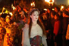 May Queen at the Beltane festival, Scotland