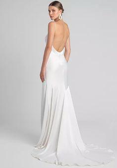 Jenny by Jenny Yoo Marnie Wedding Dress   The Knot Wedding Dress Trends, Wedding Dress Shopping, Minimalist Wedding Dresses, Trendy Wedding, Minimal Wedding Dress, Dream Wedding, Boho Wedding, Wedding Hair, Summer Wedding