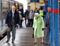 Queen Elizabeth II Hops on a Train at King's Lynn Station Like It's No Big Thing