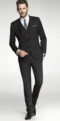 Pinstripe Photographer Suit, Express.