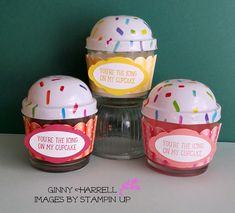 Sometimes I like to have a tiny gift to give someone for their birthday. I found these cute cupcake candles at the Dollar Tree and they reminded me of the Sweet Cupcake stamp set. I bought one of each flavor; Dollar Tree Candles, Cupcake Candle, Tiny Gifts, Sweet Cupcakes, Cool Cards, Continue Reading, Red Velvet, Stampin Up, Raspberry