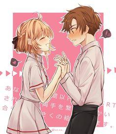 K. Sakura and L. Syaoran - Cardcaptor Sakura (art by Neva)