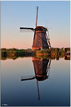 Kinderdijk Waterreflections Netherlands Been inside this building.
