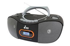 RADIOGRABADORA CDY310  Reproduce CD y MP3 Entrada USB Entrada Auxiliar Sintonizador de radio FM y AM Control de graves Dos bocinas de 3W x 2 RMS