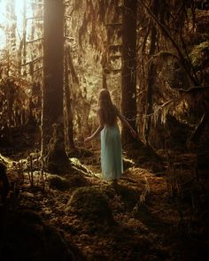 Forest Walk by TJ Drysdale at – girl photoshoot Forest Photography, Popular Photography, Fine Art Photography, Fantasy Photography, Ethereal Photography, Enchanted Wood, Walking By, Aesthetic Pictures, Narnia