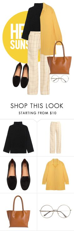 """Untitled #53"" by fal-conquerry ❤ liked on Polyvore featuring Steffen Schraut, Zimmermann, Jil Sander, Lodis, vintage, Graduation, yellow, loafers and turtleneck"