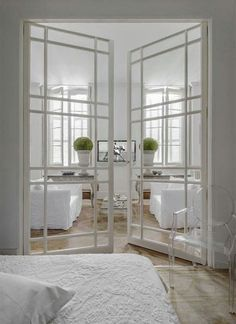 Interior Design ♥ Interior Double Glass Doors