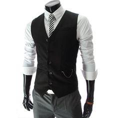 5 Button Slim Vest Waistcoat