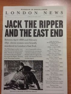Jack the Ripper and the East End - Museum of Docklands