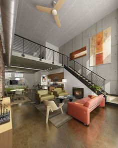 Loft stairs & railing