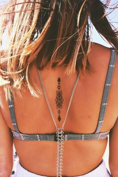 Image result for small tattoos on middle of back #necktattoos