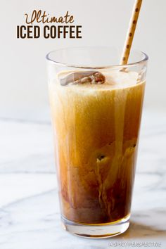 Ultimate Iced Coffee - Tips for making the BEST iced coffee! | ASpicyPerspective.com