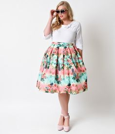 Give your winter skirts a vacation! The Plus Size Peacock Skirt from Hell Bunny is a 1950s circle skirt style that's vib...Price - $82.00-PRJvzgAg