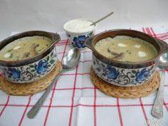 Gomba krémleves Sugar Bowl, Bowl Set, Cheeseburger Chowder, Soup, Ethnic Recipes, Soups
