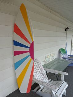 6 Foot Wood Hawaiian Surfboard Wall Art by HopelessRomanticShop, $119.99