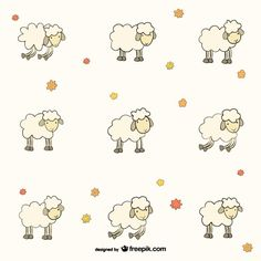 Lamb Vectors, Photos and PSD files Funny Sheep, Cute Sheep, Cartoon Drawings, Cute Drawings, Sheep Nursery, Timmy Time, Eid Stickers, Cute Lamb, Shaun The Sheep