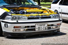 JDM CB Accord front bumper with headlight squirters, parking pole, and intersection lights…