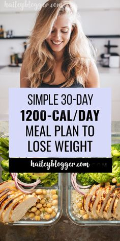 1200 calorie a day meal plan to lose weight and get a flatter tummy in 1 week or less. Do you struggle keeping your meals in check for weight loss? We made it easy for you to eat healthy and stay low-calories to lose weight. 1200 calorie a day meal plan … Low Calorie Meal Plans, 1200 Calorie Diet Menu, Healthy Low Calorie Meals, Easy Meal Plans, Ketogenic Diet Meal Plan, Low Calorie Recipes, Diet Meal Plans, Diet Recipes, Eat Healthy
