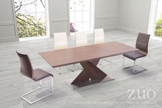Zuo Jaques Extension Dining Table.