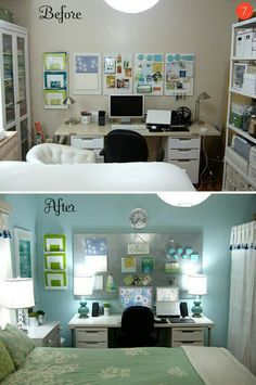 bedroom and office. ten of the best budget-friendly bedroom makeovers! and office