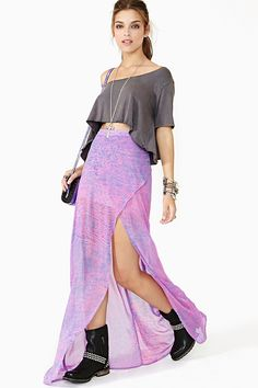 nasty gal. ravi maxi skirt. #fashion