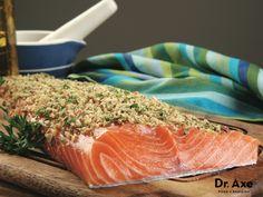 Almond Crusted Salmon Recipe - DrAxe.com  http://www.draxe.com #recipe #homemade #easy