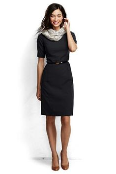 Women's+Short+Sleeve+Washable+Wool+Dress+from+Lands'+End $95