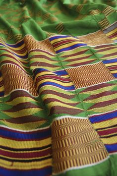 Vintage Kente cloth from Ghana