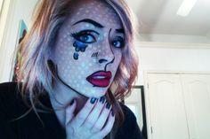 Pop art inspired halloween costume