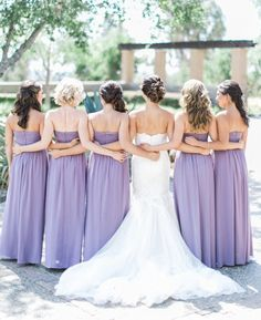 This fairytale San Diego wedding is a dream come true for the bride. Troy Grover Photographers snapped photos of this romantic, garden style wedding. Lavender Wedding Colors, Purple Wedding, Dream Wedding, Mod Wedding, Wedding Pics, Wedding Bells, Wedding Ideas, Bridesmaid Dress Colors, Bridesmaids