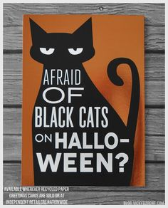 recycled paper greetings halloween
