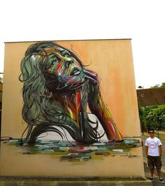 Beautiful street art by Hopare in Orsay, France