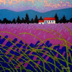 Provence Landscape Painting  - Provence Landscape Fine Art Print