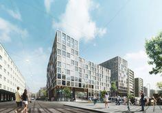 Schmidt Hammer Lassen - Office & Retail Oslo | http://shl.dk/eng/#/home/about-architecture/ruselokkeveien/images