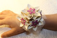 Wedding/Prom Origami Corsage. $18.00, via Etsy.