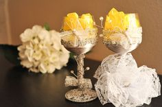 100% handmade wedding glasses