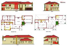 Duplex House Plans, House Floor Plans, Round House Plans, House Plans South Africa, Home Accessories, English, Flooring, How To Plan, Architecture