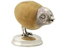 Sterling Silver 'Chick' Pin Cushion - Antique Edwardian
