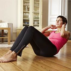 Your workout doesn't have to be 60 minutes.  Get tone with just 5 minutes with simple ab moves. #fitness #exercise