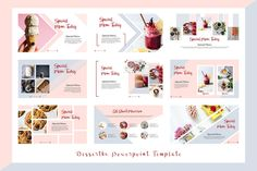 Dessertku - Food Powerpoint Template #architecture#design#slide#creative Presentation Slides Design, Presentation Pictures, Presentation Layout, Slide Design, Powerpoint Design Templates, Creative Powerpoint, Page Layout Design, Food Graphic Design, Visiting Card Design