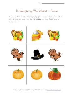 """Thanksgiving """"same"""" Concept worksheet from All Kids Network - - Pinned by #PediaStaff.  Visit http://ht.ly/63sNt for all our pediatric therapy pins"""