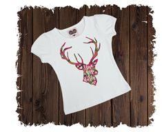 I Love You Deerly Printed T-Shirt - Available in Long or Short Sleeves Boutique Shirts, I Love You, My Love, Size Chart, Short Sleeves, Printed, Sewing, Cotton, T Shirt