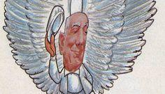 """""""Sou político, caçador de nuvens"""". Charge de Chico em homenagem a Ulysses publicada no GLOBO dois dias após a sua morte"""