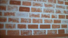 DIY : How To Make Faux Brick Wall (First Video!)
