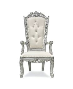 Explore our handcrafted single throne armchairs with complimentary nationwide delivery King Throne Chair, King On Throne, Goth Princess, Accent Chairs, Armchair, Ivory, Lounge, Silver, Furniture